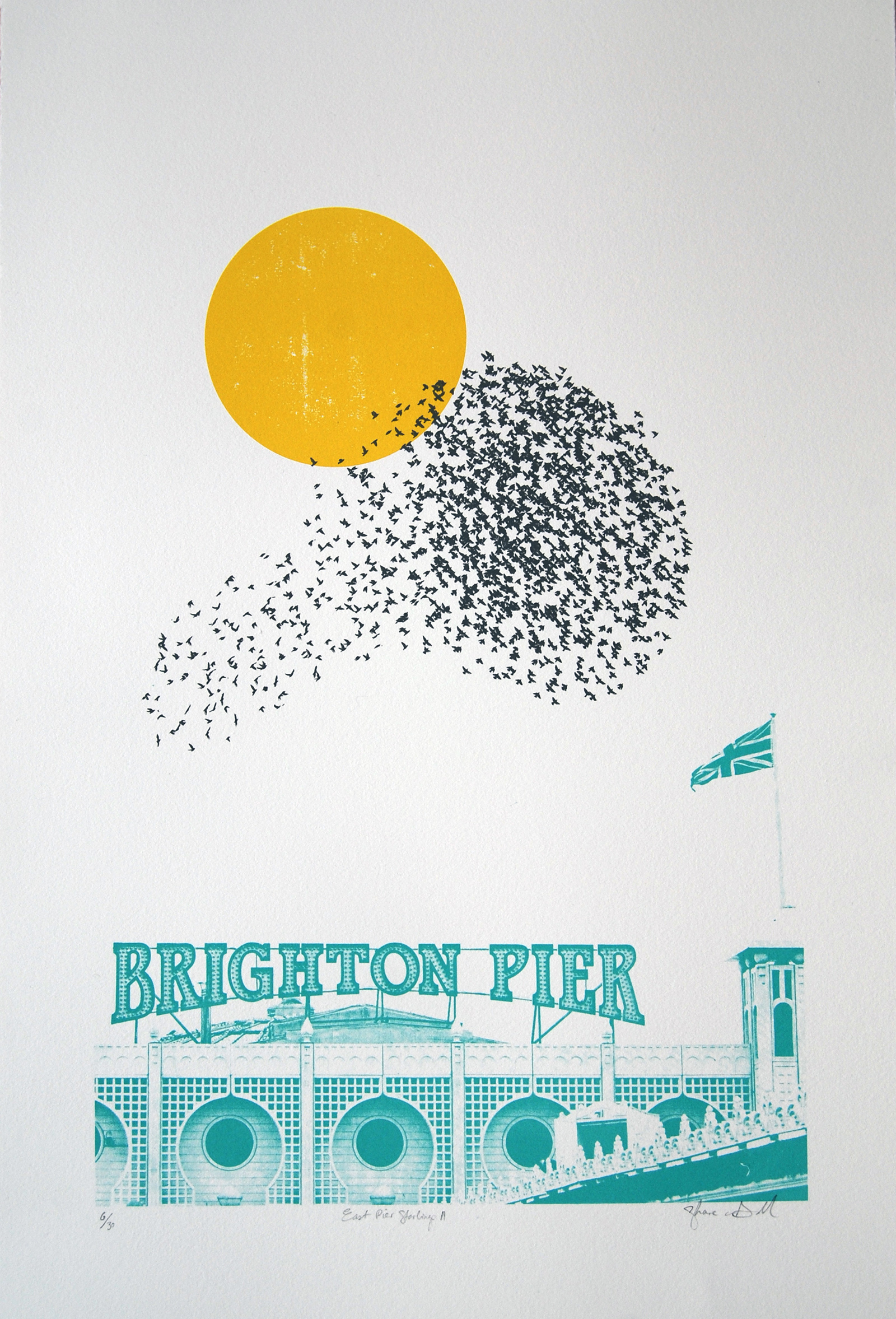 Shane O Driscoll, East Pier Starlings 2- Green