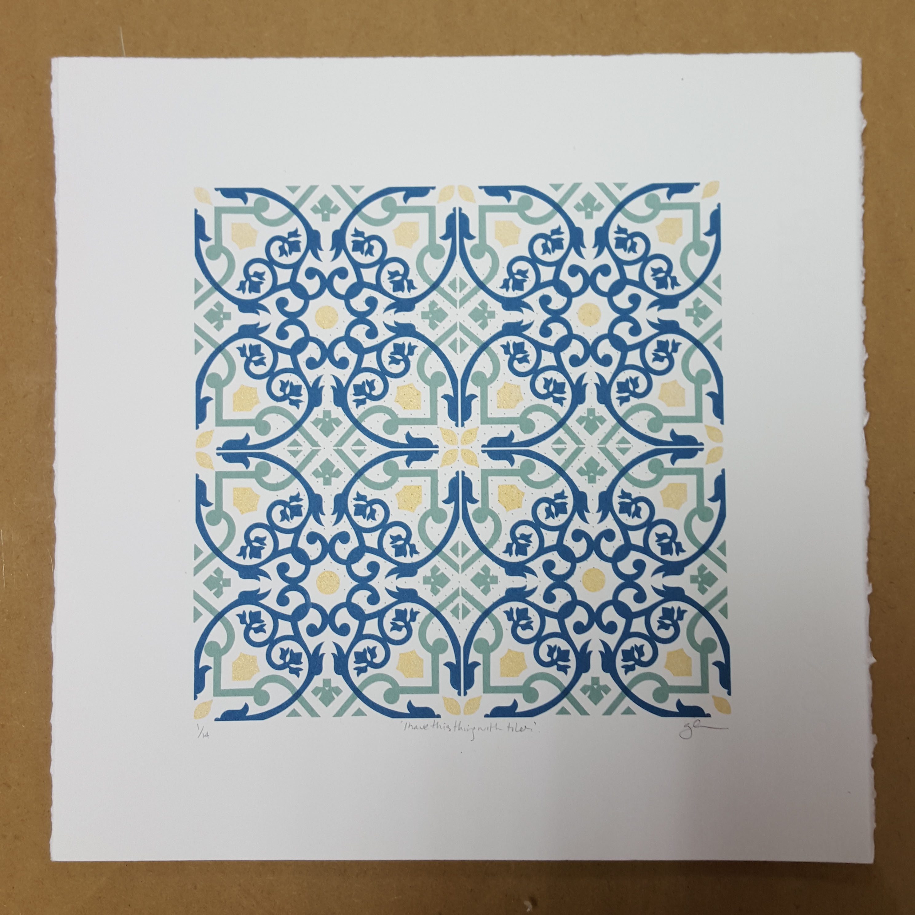 Gillian Henderson, I have this thing with tiles